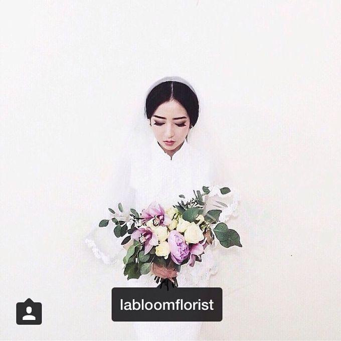 Pinterest inspired bridal bouquet by La Bloom Florist - 001
