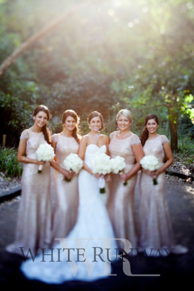 Sequin Bridesmaid Dresses by White Runway - 002