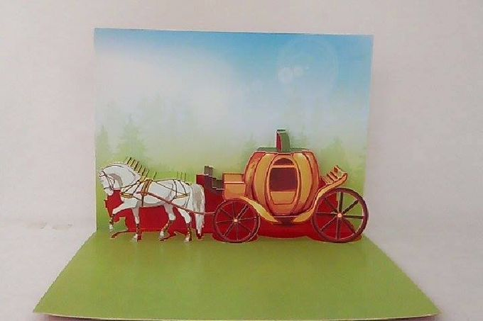 Royal Carriage Pop Up Invitation by Pop Up Occasions - 002