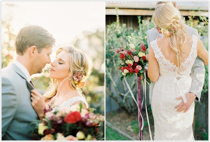 A glamorous garden wedding ticks all the right boxes for opulence and romance by Ginger Lily & Rose Floral Studio - 005