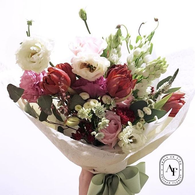 Hand Bouquet - 1 by Angie Fior - 028