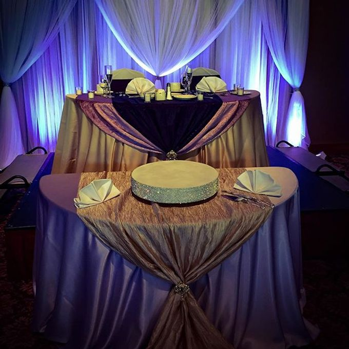 Champagne•Lilac•Plum Wedding Decor by Bella Amour Events Hawaii - 005