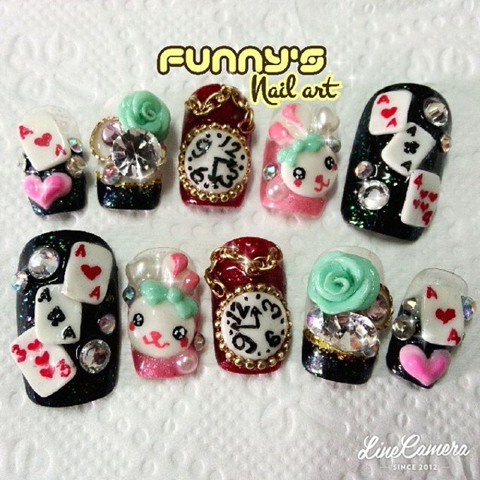 AUGUST by Funny's Nail art - 001