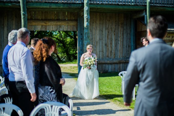 Rustic White and Green Wedding by Stone House Creative - 001