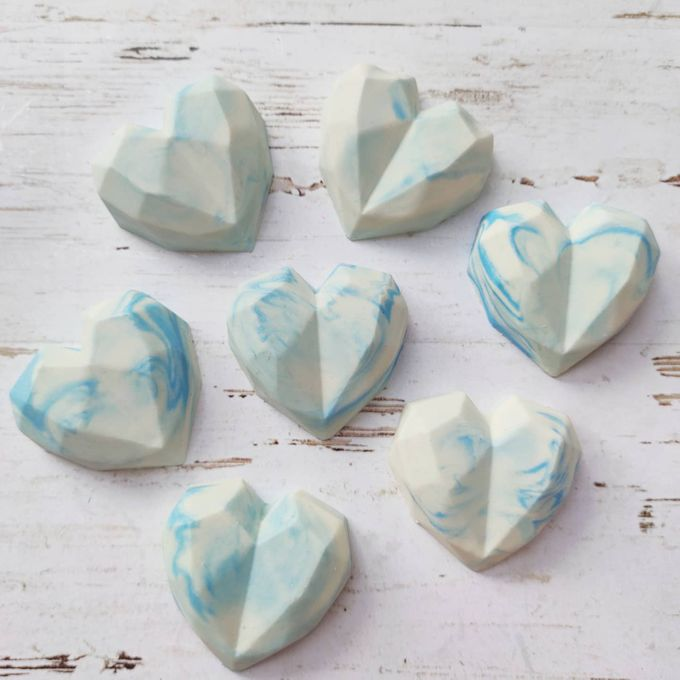 Marble Blue Heart Souvenir by The Rustic Soap - 001