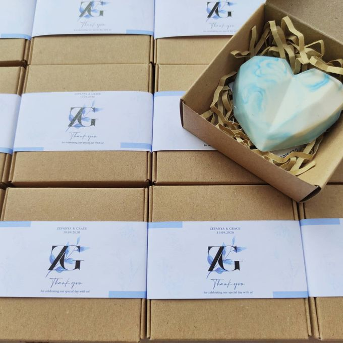 Marble Blue Heart Souvenir by The Rustic Soap - 002
