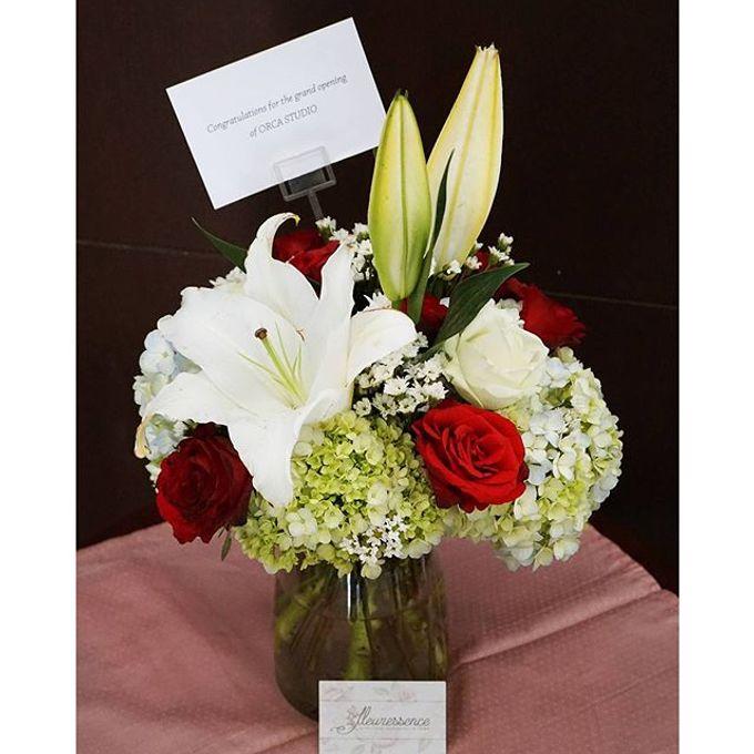 FLOWER BASKET AND VASE by Fleuressence - 003