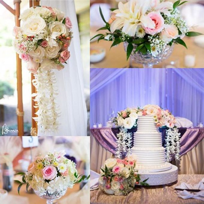 Champagne•Lilac•Plum Wedding Decor by Bella Amour Events Hawaii - 003