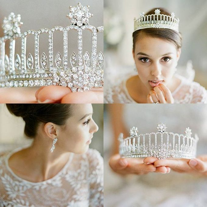 Regal Bridal Crowns and Tiaras and Headpieces by Eden Luxe Bridal - 013