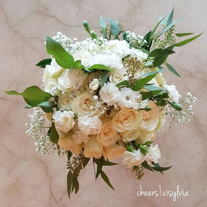 Wedding bouquet by visylviaflorist - 025