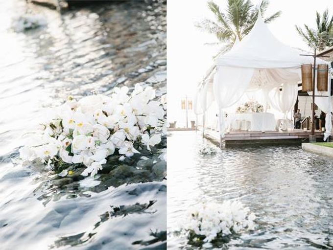 White Wedding by The Beach by Flying Bride - 012