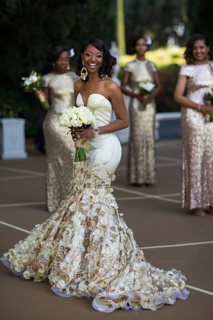 Couture Gold Wedding Gown by Desiree Spice - 002