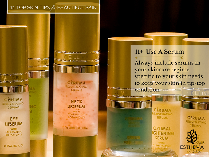 Top 12 Skincare Tips for Beautiful and Younger Skin by ESTHEVA Spa - 012