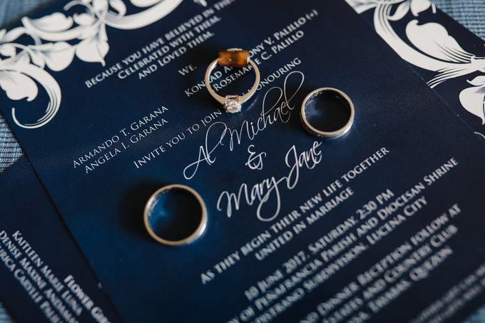 Blue Black Wedding Theme - AL & MJ by Mot Rasay Photography - 002
