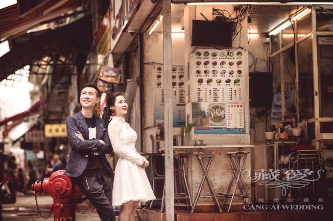Bustling Street of Hong Kong by Cang Ai Wedding - 012