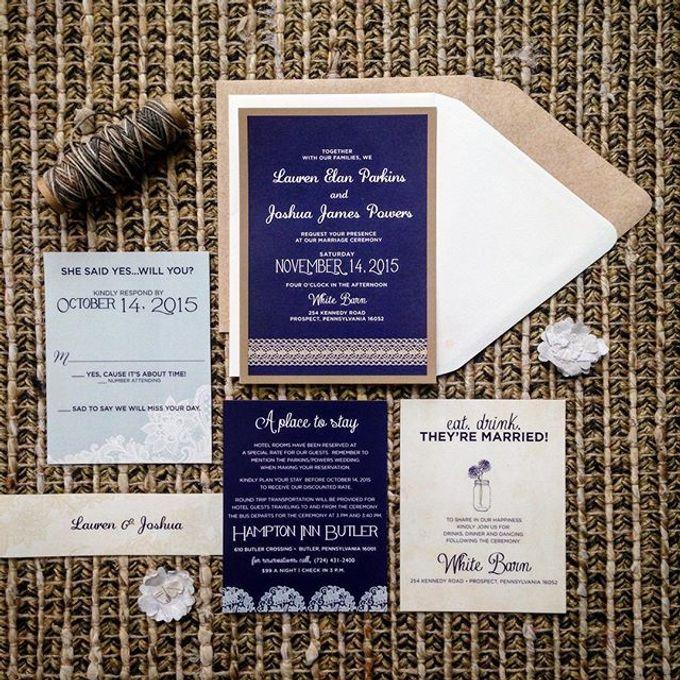 Wedding stationery portfolio  by Hello Beautiful Designs - 007