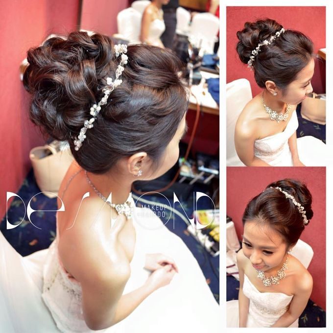 Bridal Hairdo By Desmond Makeup Hair Bridestory Com