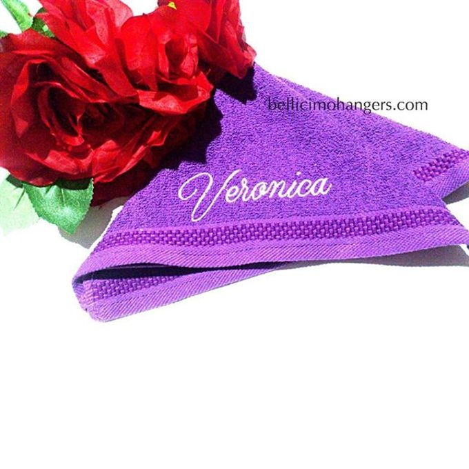 Bridesmaids Essentials - Embroidery Handkerchief by Béllicimo Personalized Hanger & Favors - 007