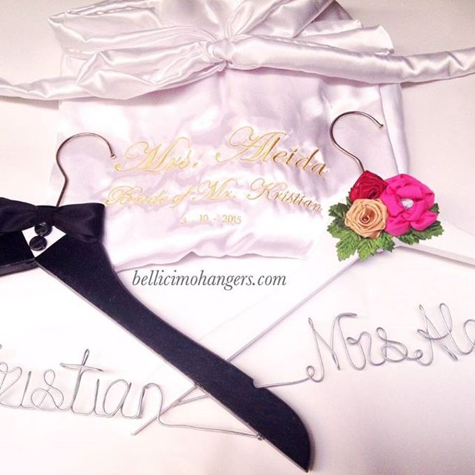 Satin Kimono Robes by Béllicimo Personalized Hanger & Favors - 007