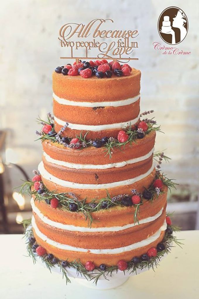 The Wedding cake of Felicia & Julian by Creme de la Creme Bali - 001