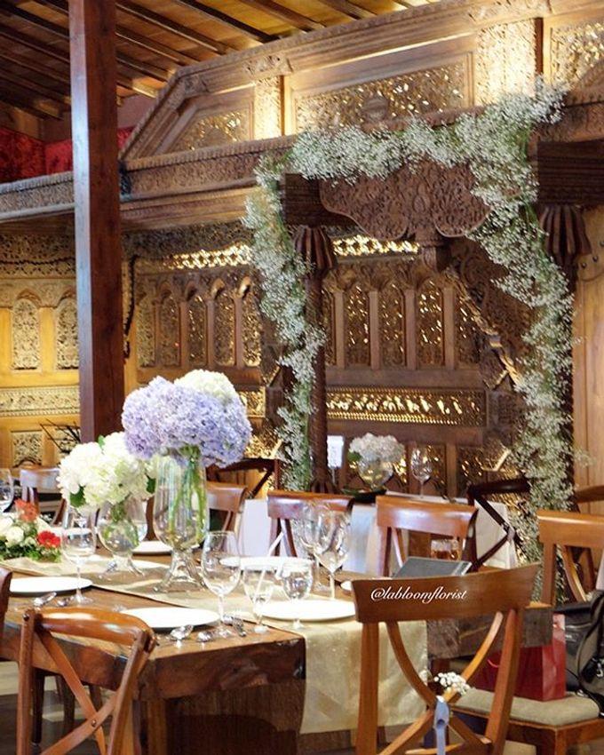 Pantro & Dini's Reception Decor by La Bloom Florist - 002