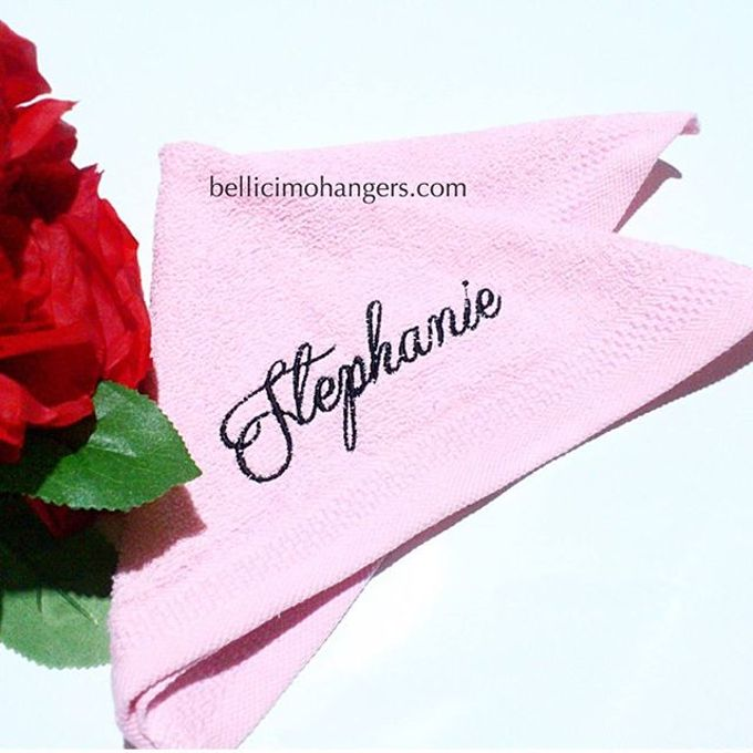 Bridesmaids Essentials - Embroidery Handkerchief by Béllicimo Personalized Hanger & Favors - 003
