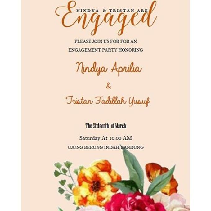 Engagement Invitation by Clar's Invitation - 001