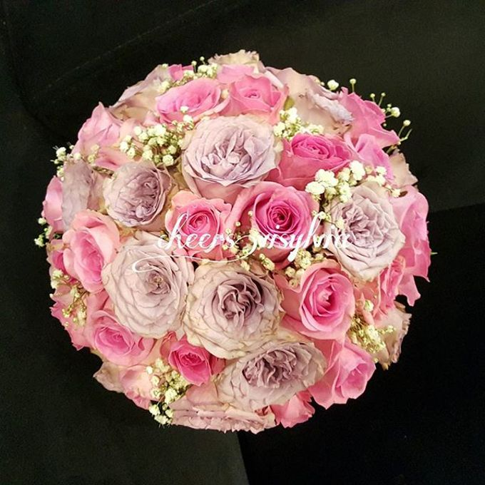 Wedding bouquet by visylviaflorist - 001