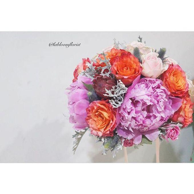 Pinterest inspired bridal bouquet by La Bloom Florist - 020