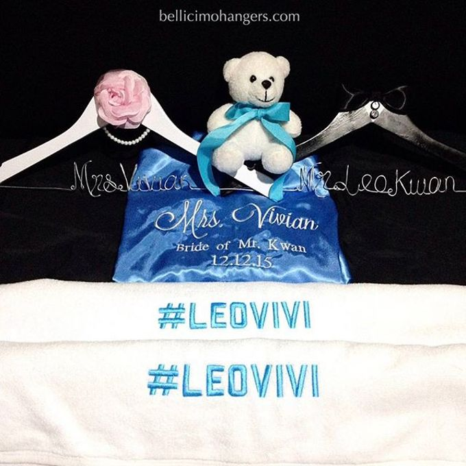 Satin Kimono Robes by Béllicimo Personalized Hanger & Favors - 005