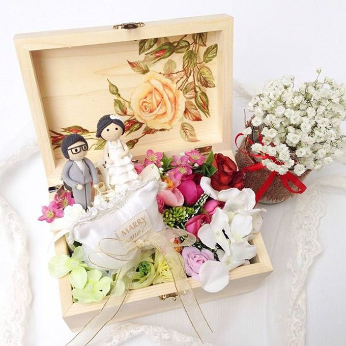 Wedding Ring Flower Box by Fashion Pillow Weds - 003