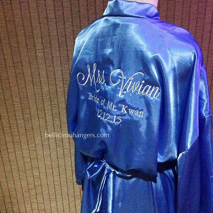 Satin Kimono Robes by Béllicimo Personalized Hanger & Favors - 004