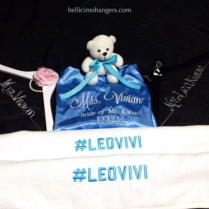 Satin Kimono Robes by Béllicimo Personalized Hanger & Favors - 006