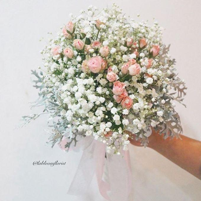 Pinterest inspired bridal bouquet by La Bloom Florist - 021