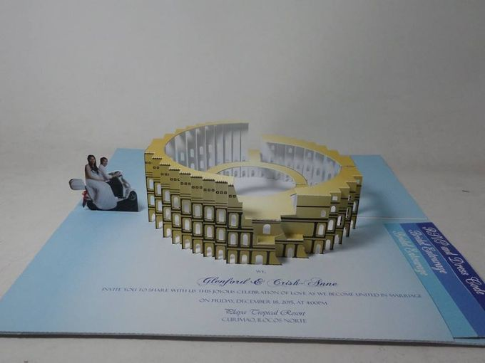 Italy Coliseum Three-dimensional Pop Up Invitation by Pop Up Occasions - 002
