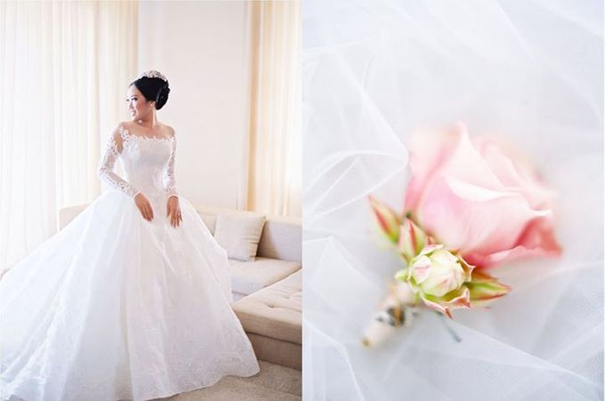 Adit & Celine Modern Ombre Wedding by Flying Bride - 006
