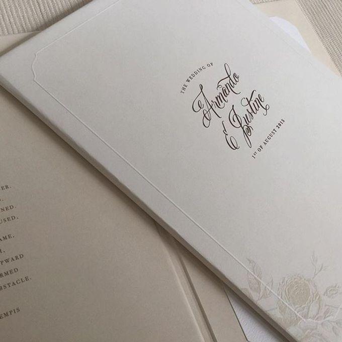 Handwritten classic invitation and liturgy book by The Leonardi - 001