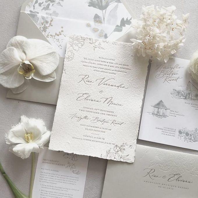 White Rustic Invitation by Pensée invitation & stationery - 001