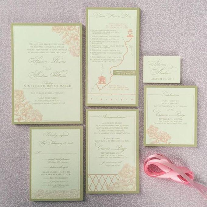Wedding stationery portfolio  by Hello Beautiful Designs - 006