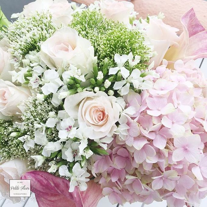 Bridal Hand Bouquet by Petite Fleur SG - 021