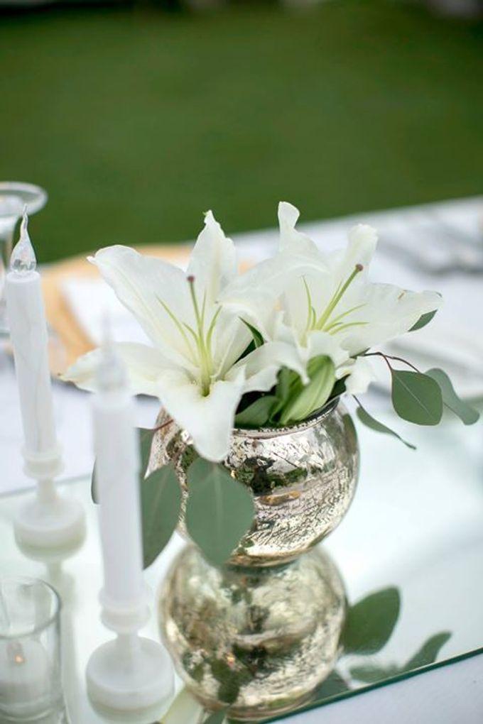 White Green and Gold Elegant Wedding at Latitude Villa by Flora Botanica Designs - 020