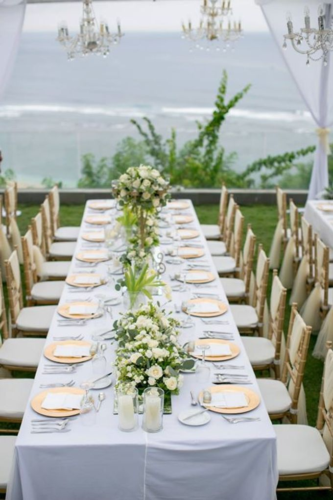 White Green and Gold Elegant Wedding at Latitude Villa by Flora Botanica Designs - 025