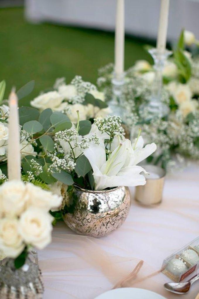 White Green and Gold Elegant Wedding at Latitude Villa by Flora Botanica Designs - 023