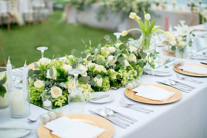 White Green and Gold Elegant Wedding at Latitude Villa by Flora Botanica Designs - 021