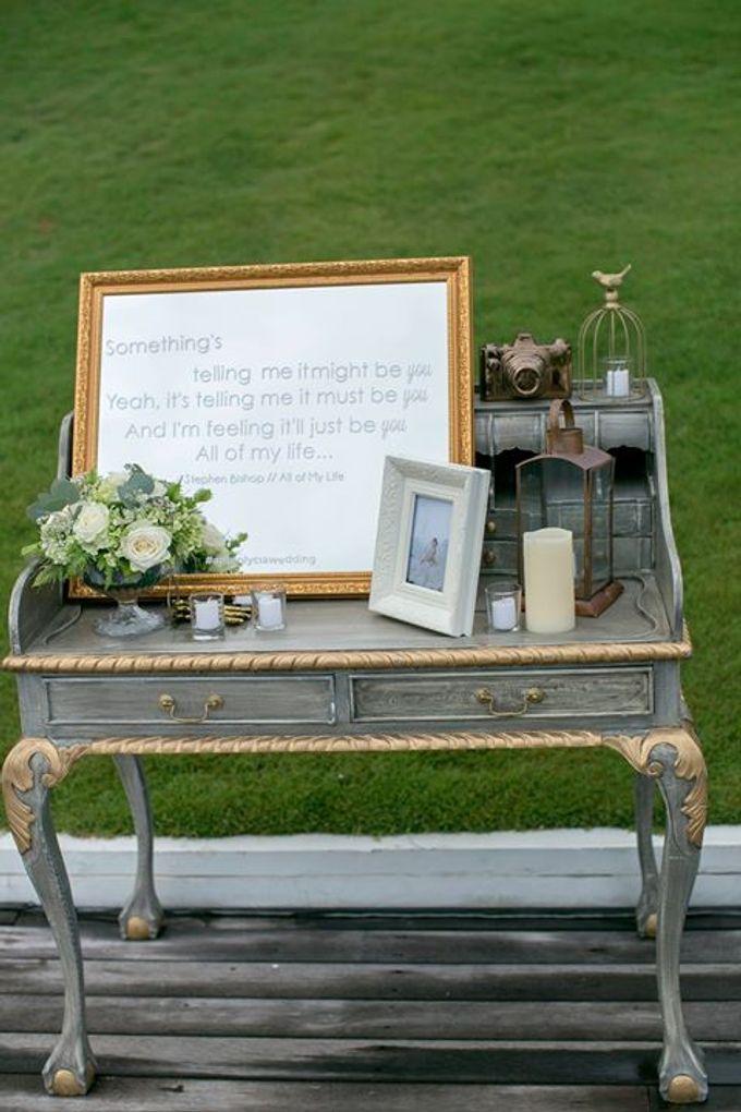White Green and Gold Elegant Wedding at Latitude Villa by Flora Botanica Designs - 013