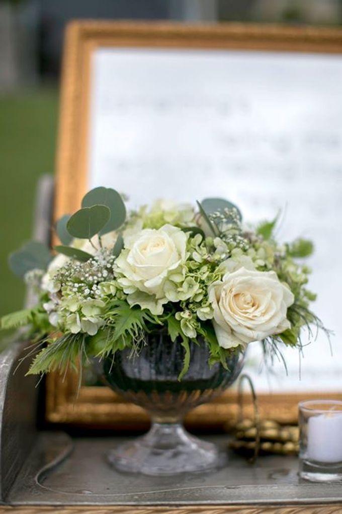 White Green and Gold Elegant Wedding at Latitude Villa by Flora Botanica Designs - 012