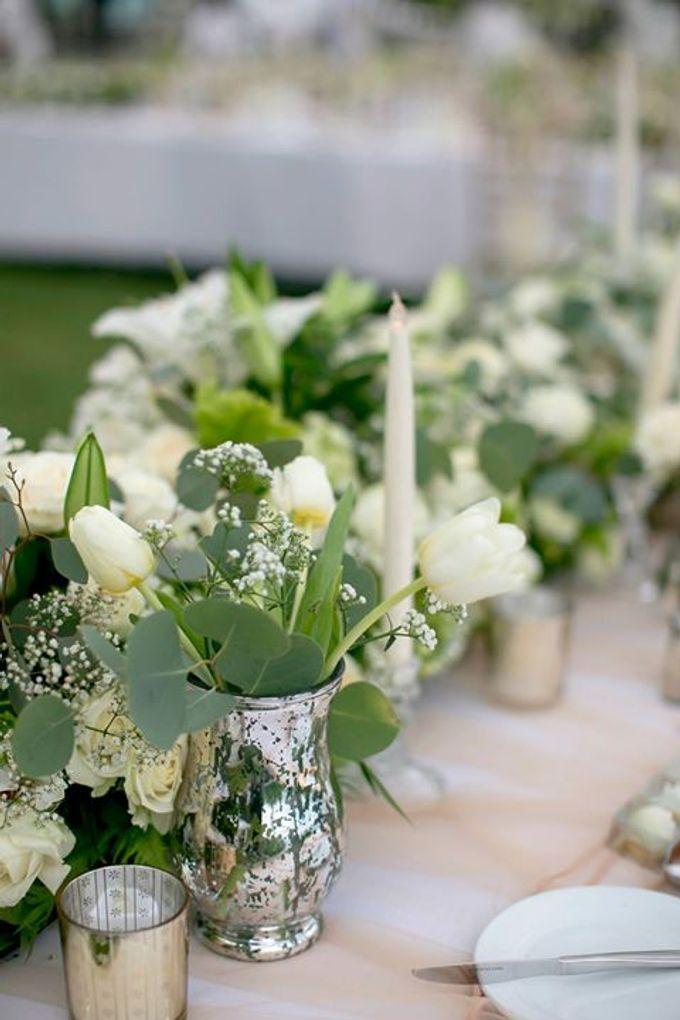 White Green and Gold Elegant Wedding at Latitude Villa by Flora Botanica Designs - 024