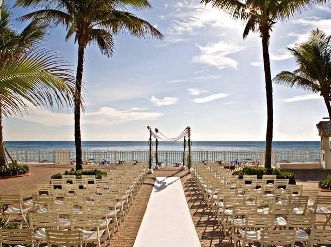 Outdoor Wedding Set up by Ocean Sky Hotel & Resort - 006
