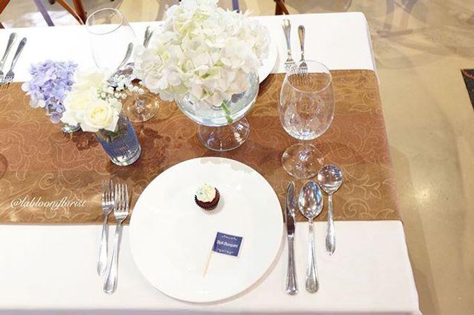 Pantro & Dini's Reception Decor by La Bloom Florist - 001