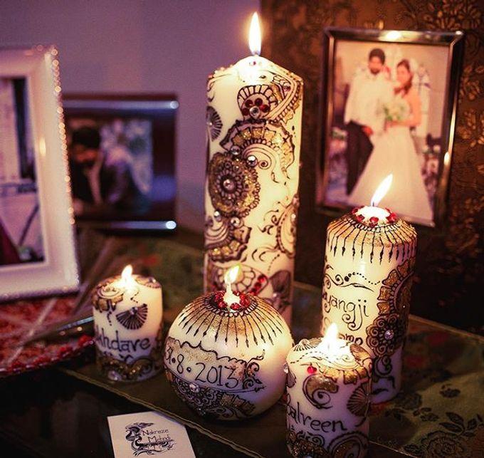 Decorative candles and canvas  by Nakreze Mehndi - 007